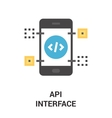 api interface icon vector image vector image