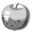 Apple icon gray monochrome style vector image vector image