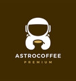 astronaut coffee logo icon vector image