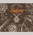 Bakery graphic rown vector image vector image