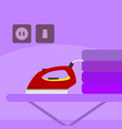 basic iron home scene vector image