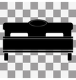 black bed icon on transparent vector image vector image