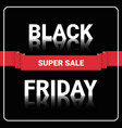 black friday super sale flyer shopping message vector image