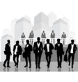 black silhouettes of young men vector image vector image