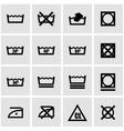 black washing signs set vector image vector image
