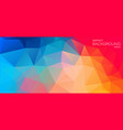 bright color flat background with triangles vector image vector image