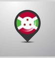 burundi map pin vector image vector image