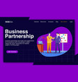 business partnership and make deal vector image vector image