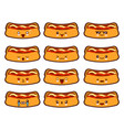 cartoon funny hot-dog characters kawaii set vector image vector image