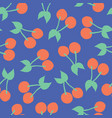 cherries pattern seamless background vector image vector image