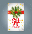 christmas gift voucher gift card vector image vector image