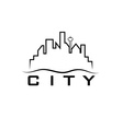 city skyline design template vector image