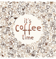coffee doodles 10 vector image vector image