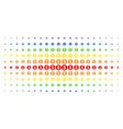 coin spectrum halftone grid vector image vector image
