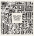 collection striped seamless geometric patterns vector image vector image