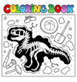 coloring book with excavation site vector image