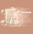 colorstay make-up in glass bottle and tube vector image vector image