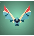Colourful origami pigeon or dove vector image vector image