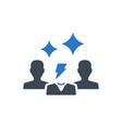 creative team icon vector image vector image