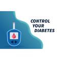 diabetes flat element - blood glucose vector image vector image