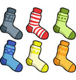 doodle set of socks vector image vector image