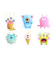 fictional monsters characters collection for kids vector image