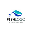 fish logo for seafood restaurant food vector image