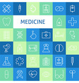 Flat Line Art Modern Medicine and Healthy Life vector image vector image