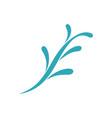 floral design logo template vector image