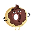 Funny doughnut isolated cartoon character vector image vector image