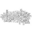glamour cars text background word cloud concept vector image vector image