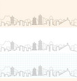 guilin hand drawn skyline vector image vector image