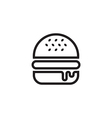 Hamburger Icon Outlined vector image vector image