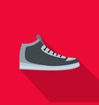 hiking boots icon flat vector image