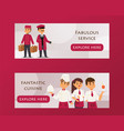 hotel service banner with text vector image vector image