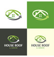 house roand arrow moving company logo and icon vector image vector image