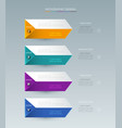 infographic label design with icons and 4 options vector image vector image