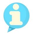 Information speach buble icon cartoon style vector image vector image