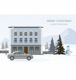 modern cottage and gray car vector image vector image