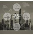 Modern Project management process scheme concept vector image vector image