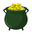 money gold pot design isolated on white background vector image