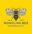 monoline bee line outline line art colorful logo vector image