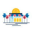 online shopping money vector image vector image
