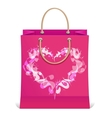 paper shopping bag isolated and heart vector image