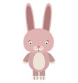 pink bunny on white background vector image vector image