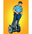 Police patrol electric scooter vector image vector image