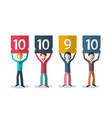 rating and feedback concept people with numbers vector image