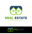 real estate house logo design template vector image