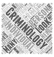 recent paradigms in criminology word cloud concept vector image vector image