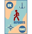 Refugees relative theme image vector image